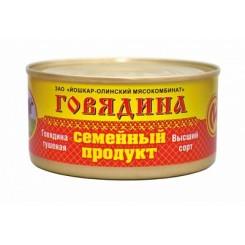 """42712 Говядина тушеная в/с """"семейный продукт"""" 325гр/36шт Й-Ола"""