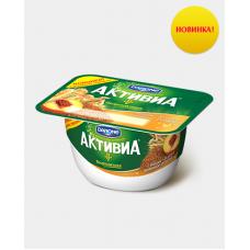 Активиа творожная 130 Персик/3 злака/льн.сем*8