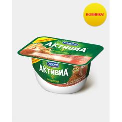 Активиа творожная 130 Печеное яблоко/3 злака/льн.сем*8