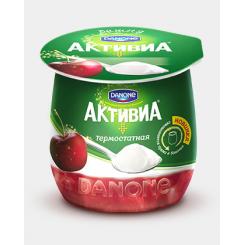 Йогурт Активиа 170г двухслойный Вишня