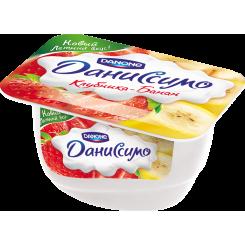 Мягкий творог Даниссимо 130 Клубника банан*8