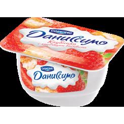 Мягкий творог Даниссимо 130 Клубника бисквит*8