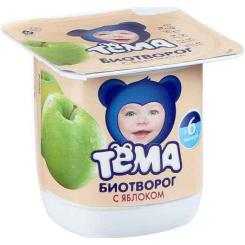 Биотворог ТЕМА 4,2% 100г  Яблоко