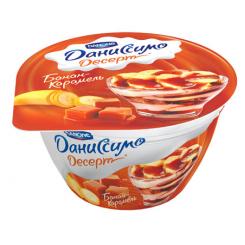 Мягкий творог двухслойный Даниссимо 140 Банан-Карамель