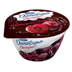 Мягкий творог двухслойный Даниссимо 140 Вишня-Шоколад