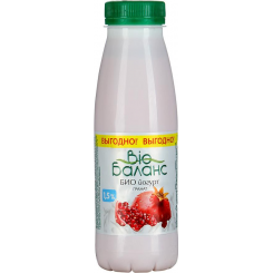Йогурт БИО-БАЛАНС питьевой 330 Гранат