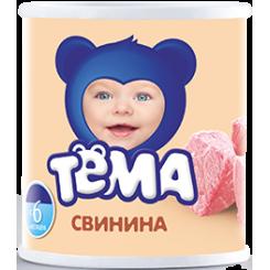 Пюре мясное ТЁМА 100г ж/б свинина